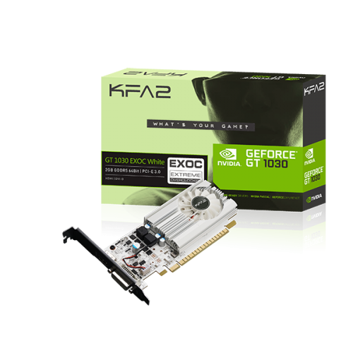 KFA2 GeForce® GT 1030 EXOC White - Graphics Card