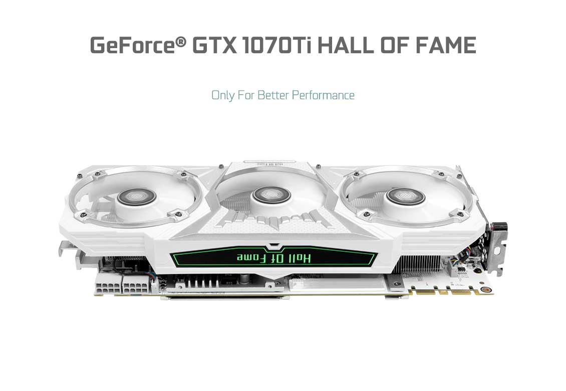 KFA2 GeForce® GTX 1070 Ti Hall of Fame - Hall of Fame Series
