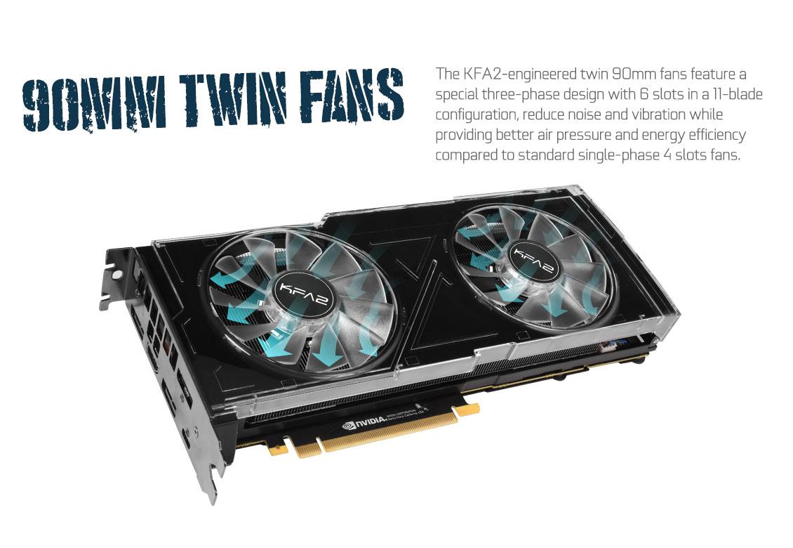 KFA2 GeForce® RTX 2080Ti Dual Black (1-Click OC) - GeForce